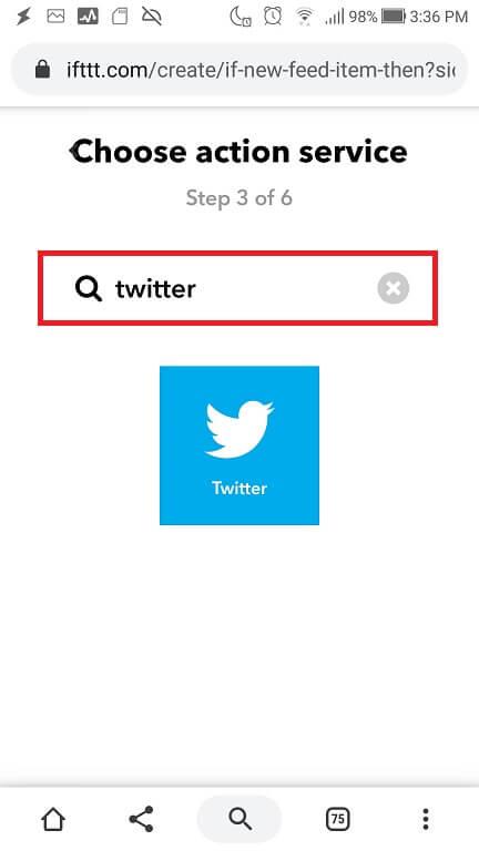 Twitterの選択